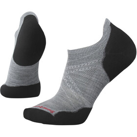 Smartwool PhD Run Light Elite Micro Calcetines, light gray/black